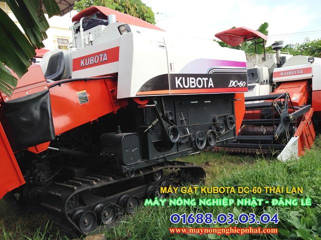 máy gặt lúa kubota dc60 thái lan cũ bãi