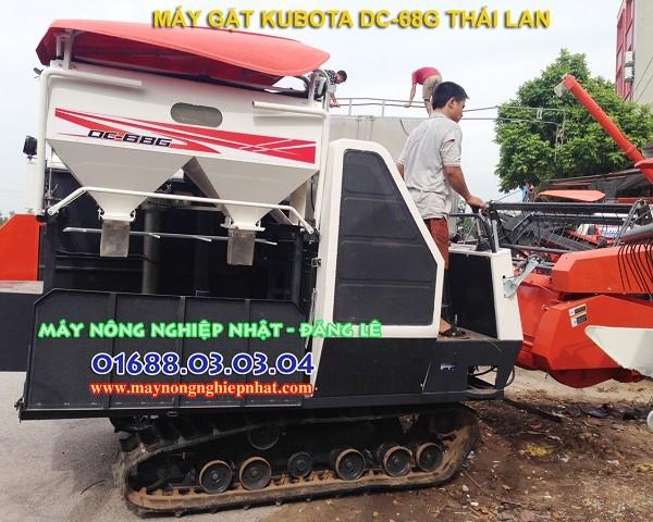 máy gặt kubota dc68g thái lan hàng bãi