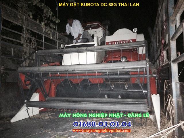 xuất bán máy gặt kubota dc68g đi quảng bình