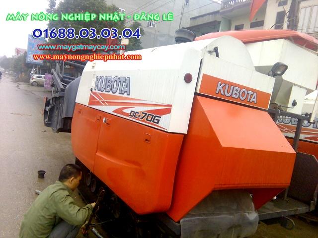 bán máy gặt lúa cũ kubota dc70 thái lan tại yên dũng bắc giang phụ tùng máy gặt lúa giá rẻ