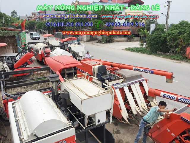 bán máy gặt tăng đơ kubota R1 55 đi gia lâm hà nội