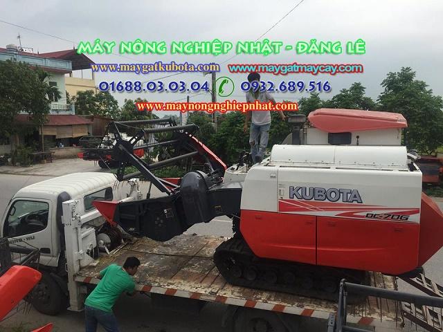 bán máy gặt cũ chính hãng kubota dc 70 nam định