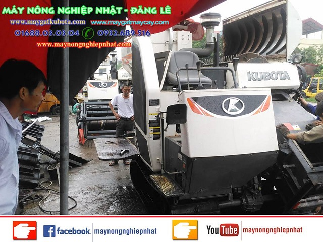 Xuất bán máy gặt kubota dc70 tại Thanh Sơn Phú Thọ