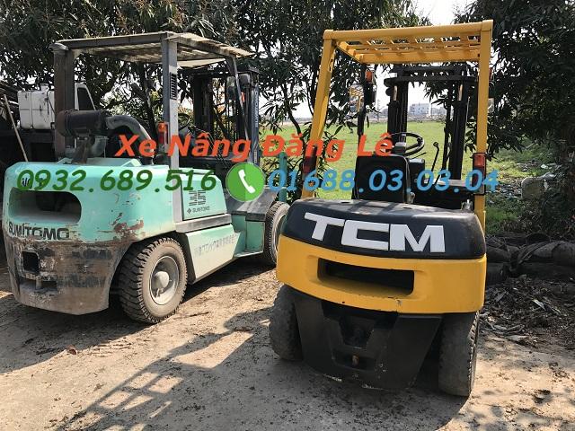 Xe nâng TCM cũ giá tốt model FD25 2,5 tấn