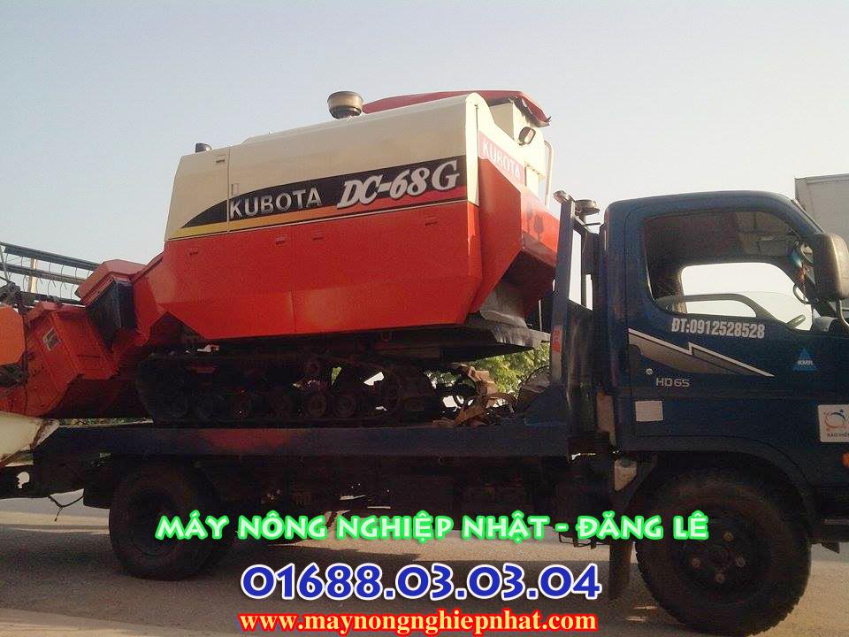 máy gặt liên hợp kubota dc68 g thái lan giá rẻ